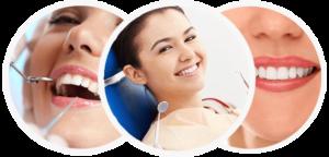 Imagens de pacientes de dentista sorrindo